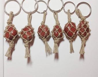 Goldstone hemp keychains