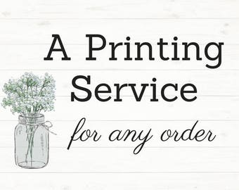 Printing Service for Any Invitation Order