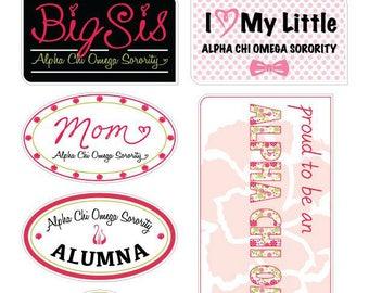 "ALPHA CHI OMEGA ""Family"" Sticker Sheet"