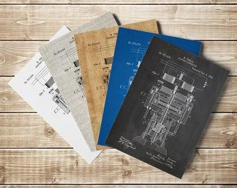 AC Generator Poster, Nikola Tesla, Ac Generator Print, Ac Generator Patent, Tesla Generator, Tesla Patent, Tesla Decor, INSTANT DOWNLOAD