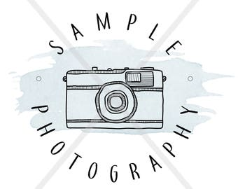Photography Logo; Camera; Watercolor