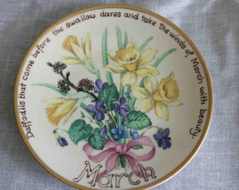 The Country Diary of an Edwardian Lady Limited Edition Plate  'March'  Bradex Davenport  Excellent condition