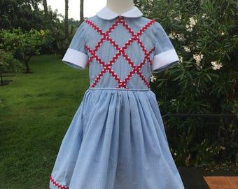 Retro Patriotic Girl's Dress