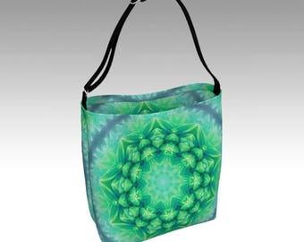 Green Tote, Tote Bag, Beach Bag, Grocery Bag, Day Tote, Market Tote, Book Bag, Shopping Bag, Farmer's Market Tote, Travel Bag, Shoulder Bag