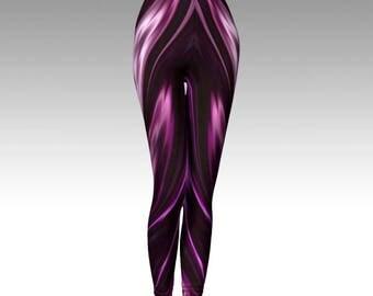 Amethyst Leggings, Purple Leggings, Amethyst Tights, Purple Tights, Purple Capris, Amethyst Capris, Activewear, Yoga Leggings, Yoga Tights