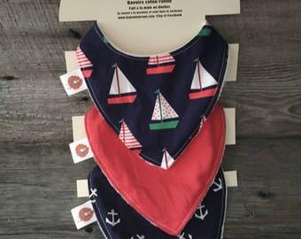 All 3 bibs scarves bavana bandana bib boat anchor