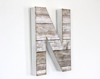 Rustic Beach Decor - Beach Wall Decor - Beach Letters - Lake House Sign - Beach House Gift - Distressed Wood Letters - Driftwood Letters