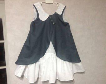 Sleeveless English Embroidery Dress