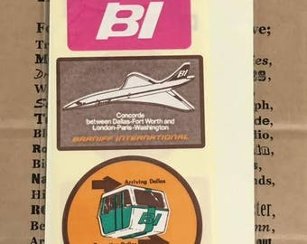 Traveler's Notebook BRANIFF INTERNATIONAL Sticker 03 2014 Limited Traveler's Factory Midori Designphil Made in Japan Free Shipping