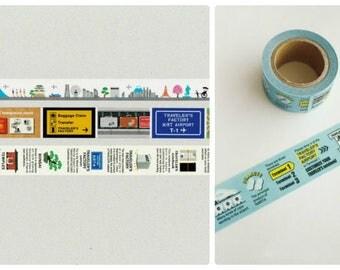 Traveler's Notebook Narita Airport Limited Masking Tapes NRT Trip, NRT Airport, Japan Guide, NRT Information 4 Set Free shipping