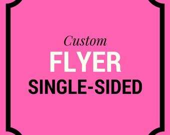 Custom Flyer Design - Marketing Flyer - Promo Flyer - Custom Branding -  Hair Salon Flyer - Real Estate Flyer - Hair Salon Flyer