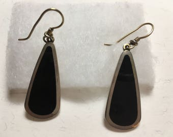 Laurel Burch Black and Silver teardrop earrings