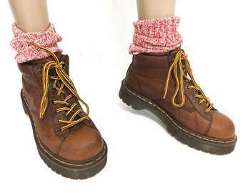 Distressed Dr Martens Oxfords / Brown Leather Tie Shoes / Vintage Chunky Shoes / Doc Martens Women Size 38 38.5  / ClubKid Soft Grunge Shoes