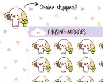 C118 | Order shipped planner sticker | Order tracker planner sticker | Phone sticker | Cute dog sticker