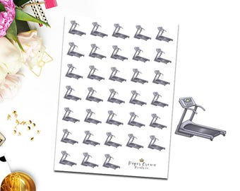 Treadmill Icons/Workout/Excercise/Fitness Planner Stickers for Erin Condren Planner/Happy Planner/Travelers Notebook/Functional