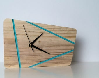 Wood, retro clock