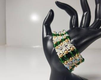 Elizabethan Inspired Right Angle Weave  Bracelet