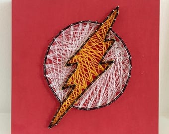 The Flash Logo String Art