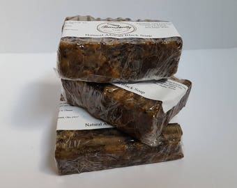 African Black Soap | Natural | 5 oz Bar Soap | Made in Ghana | Full Size | Sample Size