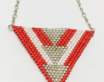 Silver Miyuki beads necklace