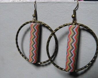 Retro hammered rings earrings