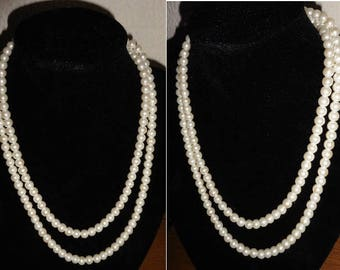 Classic String Of Pearls. Faux pearls. Vintage