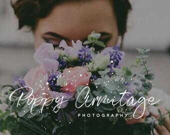 Premade Logo Design | 'Poppy' | Business Logo | Photography Logo | Blog Header | Business Branding | Watermark | Caligraphy logo | Logo