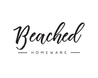 Premade Logo Design | 'Beached' | Minimal Logo | Photography Logo | Blog Logo | Business Branding | Branding Design | Calligraphy logo