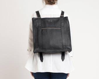 MYOUR-Black Unisex backpack