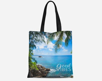 Tote Bag - Customized Tote Bag - Personalized Tote - Vibes Tote bag  - Healthy AF Tote Bag - 16x16 Tote Bag