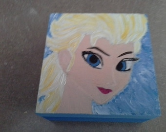 box Princess Square acrylic painting