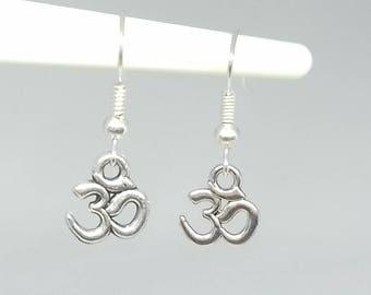 Om Symbol Earrings | Buddha Earrings | Ohm Dangle Boho Hippie Zen Buddhist Spiritual Meditation Yoga Jewelry Jewellery CUSTOM MADE