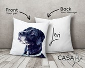Pets Personalised Cushion, Pet Memorial, Pet Loss Gift, Dog Lover Gift, Cat Lover Gift, Animal Decor, Pet Decor