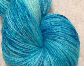 Hand dyed yarn Merino and Bamboo