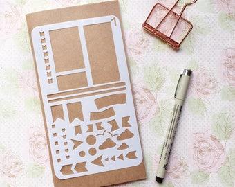 Bullet Journal Stencil #1 - Planner, Journal, Craft, Scrapbooking, Decoration