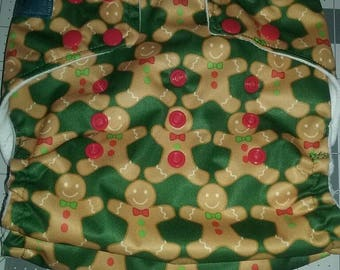 Gingerbread pocket cloth diaper os.