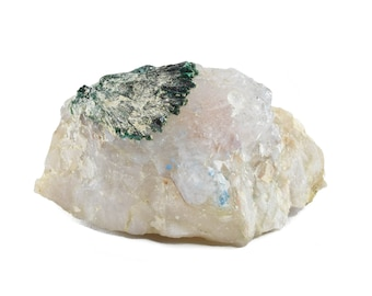 Malachite Flower on Quartz with Shattuckite Balls from Kaokoveld, Namibia 20