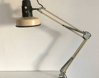 Cream vintage architect lamp 1970