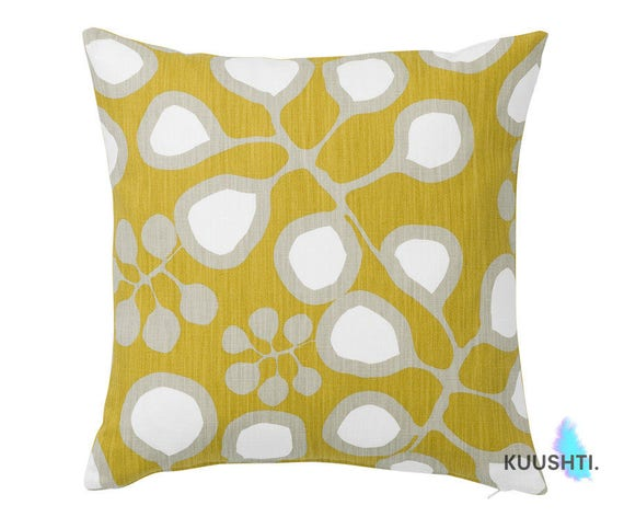 Large Yellow Throw Pillow : LARGE Mustard Yellow Throw Pillow Yellow Cushion Yellow Home