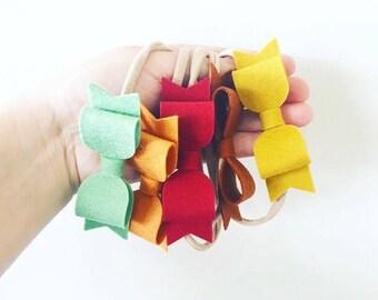 INDI Felt Bow - Headband or Hair Clip - Pick Your Colour