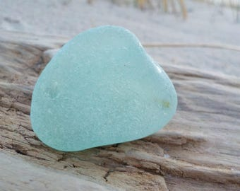 """Light lime green frosted Genuine Sea Glass piece -Flawless Sea Glass -Size 1.3""""-Jewelry Quality- Perfect pendant-Ring size-#J222#"""