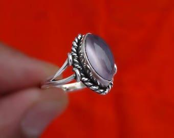 Rose Quartz ring,handmade ring, 92.5% sterling silver ring, silver Rose Quartz ring,sterling silver ring,handmade ring( all sizes available)