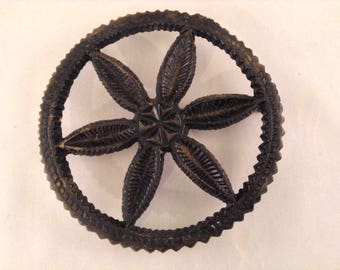 Vintage Pinwheel Trivet - Cast Iron Black Trivet