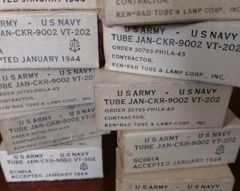Antique Military Vacuum Radio Tubes
