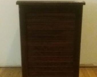 Vintage Wooden Laundry Bin/Wooden Laundry Basket/Vintage Bathroom Decor/ Laundry Room Storage