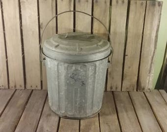 vintage trash can small metal trash can vintage trash can with lid vintage