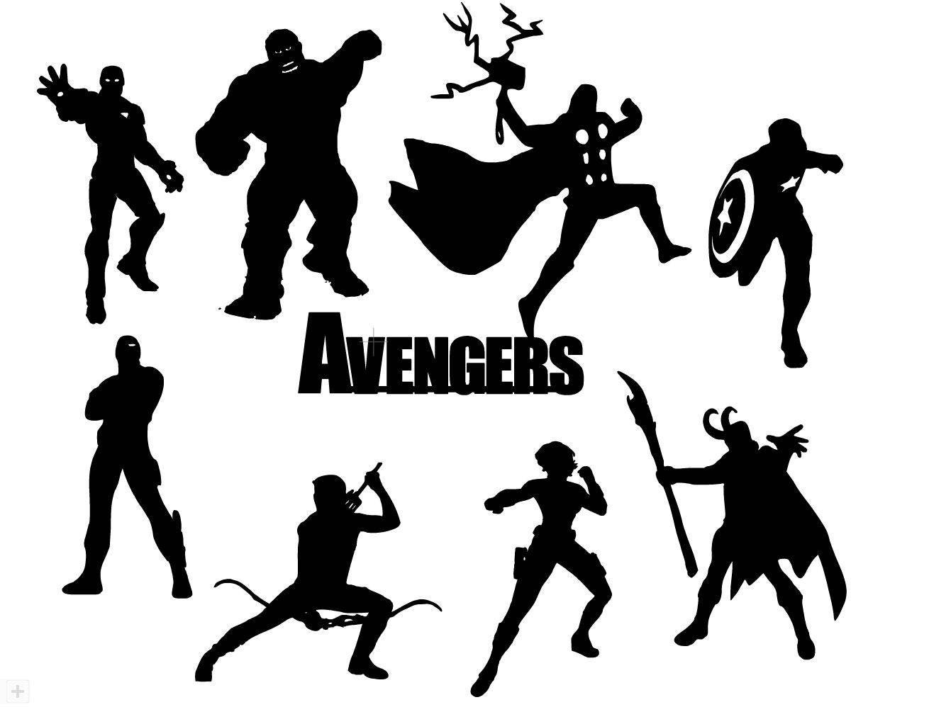 Avengers Die Cut Out Silhouette 16 Cuts Great For Fairy Jar