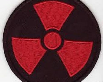 RADIATION RED Embroidered Zombie Motorcycle MC Club Biker Vest Patch