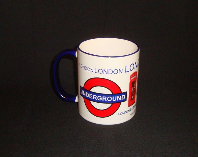 London City Style Mug Blue Handle & Rim