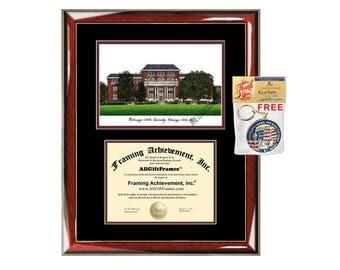 Indiana University Of Pennsylvania Diploma Frames Lithograph